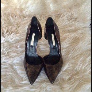 Zara pointed toe mules 3inch heels